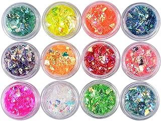 Nail Art Accessories,Babyee 12 Box Diamonds Dazzling Tips Nail Sticker Sequins Colorful Nail Art Decoration