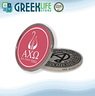 Alpha Chi Omega Silver Color Small Collectible Challenge Coin Lucky Coin