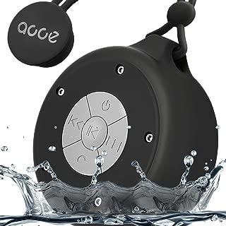 OJA OJA-Q50-black Shower Speaker, Mini Wireless Waterproof Bluetooth Speaker, 5W Driver, Suction Cup, Portable Speakerphone, Built-in Mic, Hands-Free Calling, Black