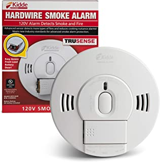 Kidde 21028502 AC/DC Wire-in Smoke Alarm Detector with TruSense Technology | Front Load Battery Backup | Voice Notification | Model 2070-VASR, White