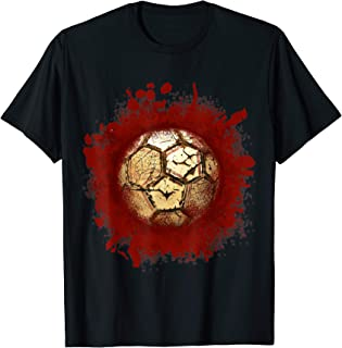 Zombie Soccer Blood Funny Scary Player Halloween Costume T-Shirt