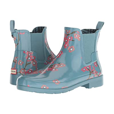 Hunter Refined Blossom Print Chelsea Boot (Soft Pine Floral) Women