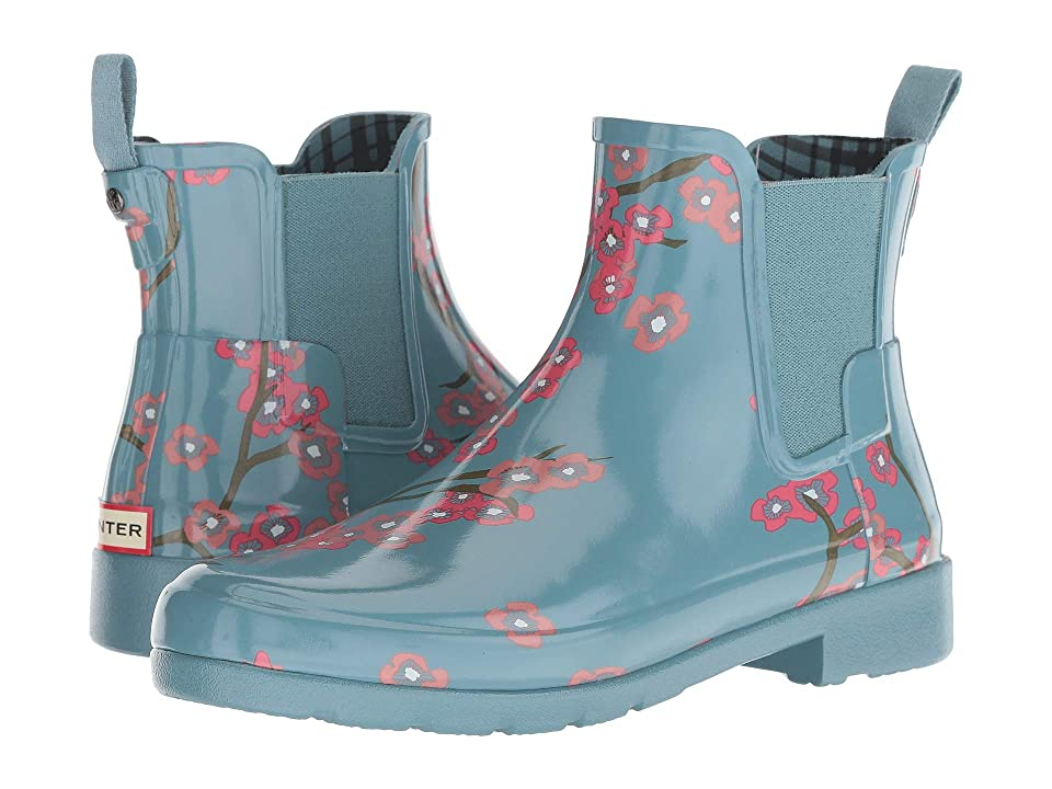 Hunter Refined Blossom Print Chelsea Boot (Soft Pine Floral) Women