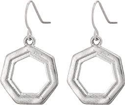 Layered Geo Drop Earrings