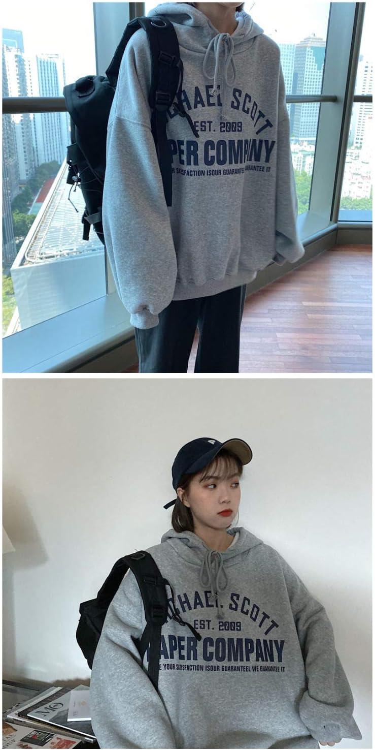 Sweatshirt Hoodie Femmes Hoodies Pulls6 Couleurs Lettres Imprimées Nouvelle Mode Automne Hiver Filles Lâche Manteau Coréen Taille S-2Xl Gray