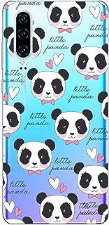 Suhctup Funda Compatible para LG G8,Carcasa Transparente Dibujos Animal Suave Silicona TPU Gel Bumper Ultra Pulgada Antigolpes Crystal Clear Protector Piel Case Cover,Panda 8