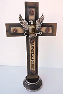 Colors of Rainbow Navy Cross Military United States Pedestal 13x7 inch