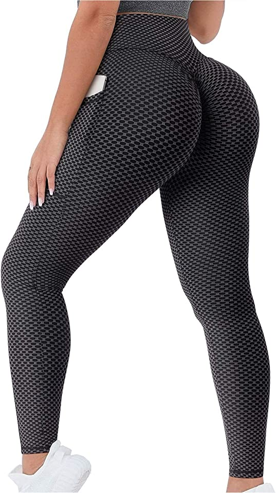 Women's High Waist Yoga Pants Tummy Control Slimming Leggings Workout Running Butt Lift Sprot Tights