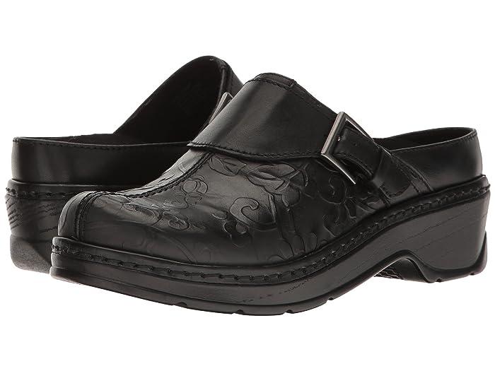 Klogs Footwear  Austin (Black Flower Tool) Womens Clog Shoes
