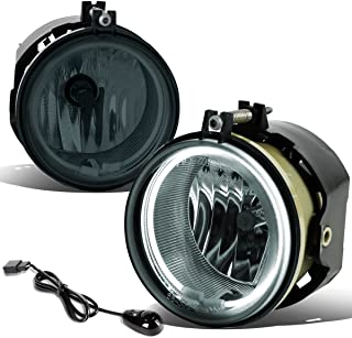 For Dodge Charger/Challenger Pair of Bumper Halo Ring Fog Lights+Switch+CCFL Power Inverter (Smoked Lens)