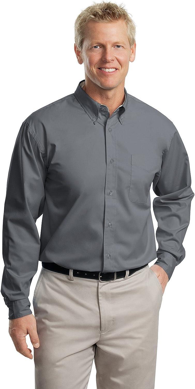 Port Authority Long Sleeve Easy Care Shirt - Steel Grey S608 3XLT