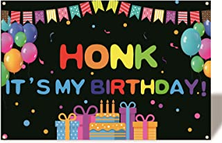 foxany Honk Its My Birthday Banner, Happy Birthday Banner Backdrop, Photo Pro Birthday Party Decorations Supplies Indoor/O...