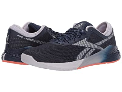 Reebok Nano 9 (Collegiate Navy/Sterling Grey/Vivid Orange) Women