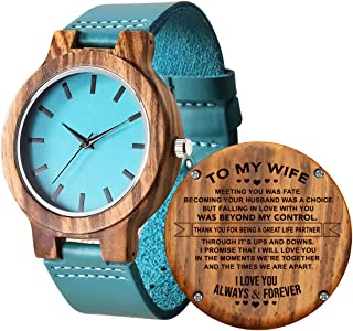 Personalized Wooden Watch for Daughter, Engraved to My Daughter