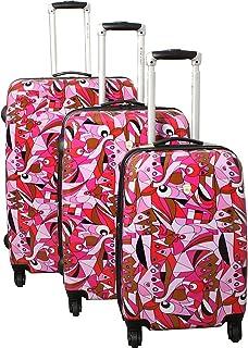 Dejuno Pop Art 3-Piece Lightweight Hardside Spinner Luggage Set