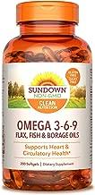 Sundown Triple Omega 3-6-9, 200 Softgels (Packaging May Vary)
