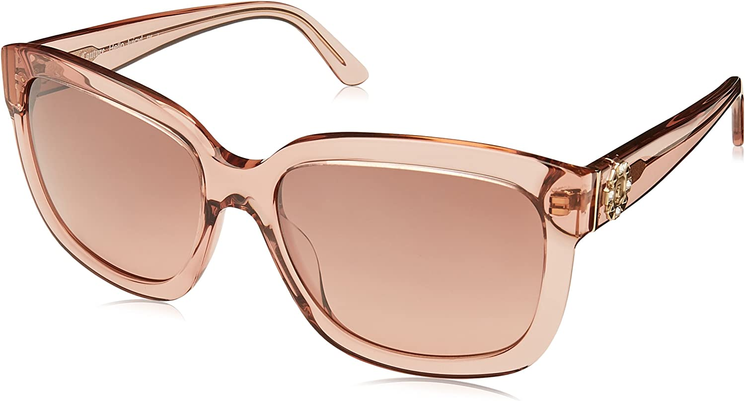 Juicy Couture Women's Ju 588 s Square Sunglasses, Pink Crystal, 55 mm