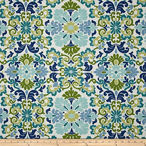 Waverly Folk Damask Seaspray, Fabric by the Yard