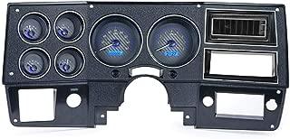 Dakota Digital 73-87 Chevy Truck VHX System, Carbon Fiber Face - Blue Display