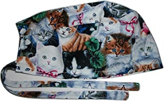 Scrub Hat Adorable Kittens Cats Fabric Nurse Cap Doctor ER Do-Rag Skull
