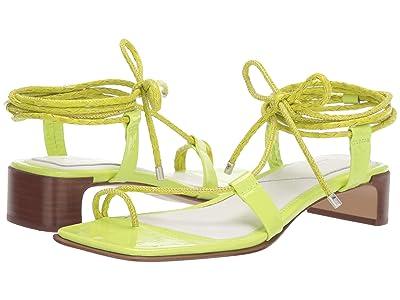 rag & bone Cindy Tie Sandal (Acid Green) Women