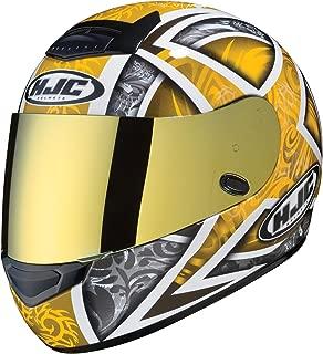 HJC Helmets HJ-20 Unisex-Adult Full-Face-Helmet-Style Replacement Helmet Face Shield (Gold,One Size)