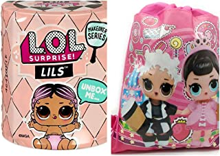 L.O.L. Surprise! Makeover Series - Lils Series 5 (Styles Vary) Lil Brother, Lil Sister or Pet and Drawstring Backpack