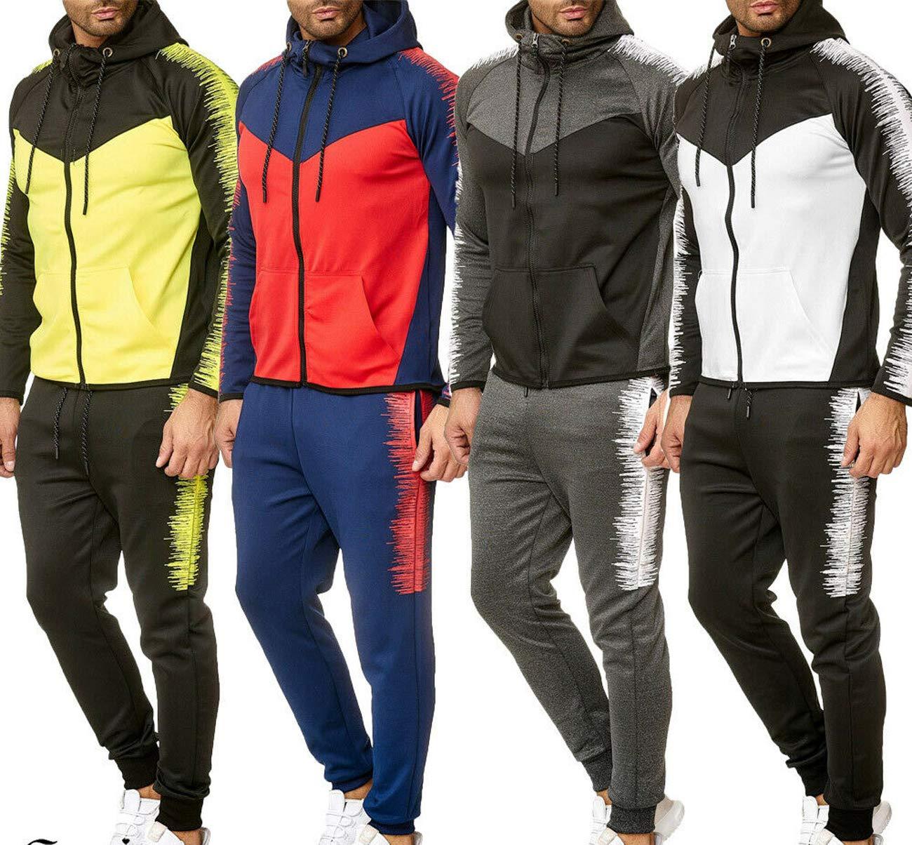 $250 NWT KAIMOS Men/'s 213 Black Sweatsuit Set Hoodie Jacket Pants Joggers SMALL