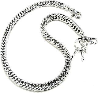 Doublek Heavy Biker Trucker Keychain Key Jean Wallet Chain Silver/Black CS11MLT