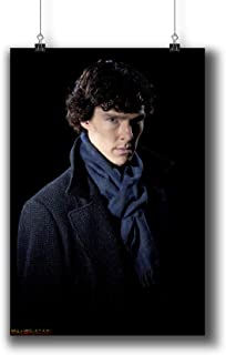 Sherlock TV Series Poster Small Prints 010-007 Sherlock Holmes Benedict Cumberbatch,Wall Art Decor for Dorm Bedroom Living Room (A3|11x17inch|29x42cm)