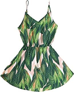 Women's Tropical Dream Banana Leaf Print Sleeveless Dress