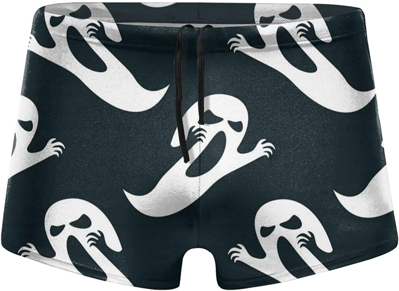 Flying Ghost Men's Swimming Trunks Fitness Swimwear Boxer Pants Board Shorts
