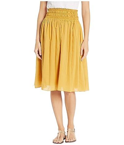 Hard Tail Smocked Waist Ballet Skirt (Honeygold) Women
