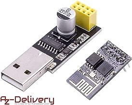 AZDelivery ESP8266-01S ESP-01 modulo Wifi con adaptador USB para Arduino con eBook incluido