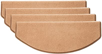 15 Pack Adhesive Carpet Stair Treads Mats Pad Non-slip Step Protection Rug Cover (Color : Beige, Size : 24 * 80cm (9.4 * 3...