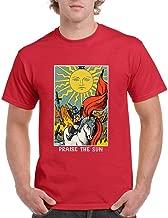 Joom-TS Praise The Sun Tarot Card Mens Fitted Tee Inspired T Shirts