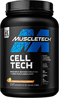 Creatine Monohydrate Powder + Carb Matrix | MuscleTech Cell-Tech Creatine Powder | Post Workout Recovery Drink | Muscle Bu...
