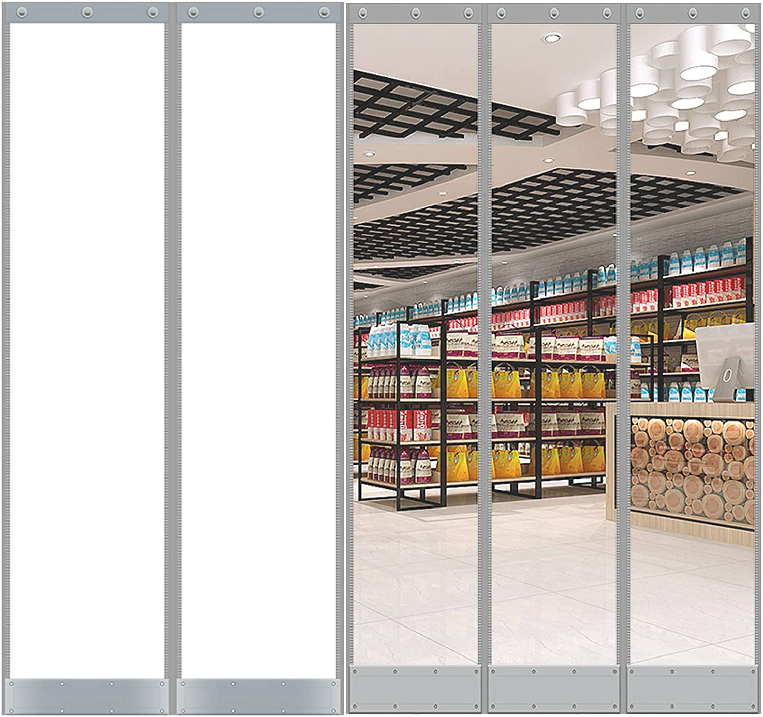 Wholesale Curtains Air Conditioning Popular standard Door Partition Windproof Summer Trans