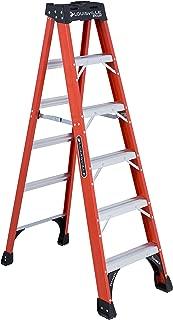 Louisville Ladder 6-Foot Fiberglass Step Ladder, 375-Pound Capacity, FS1406HD