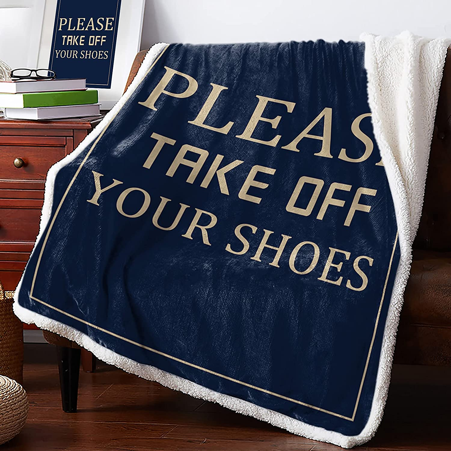 Warm Soft Fleece Throw Blanket Please Shoes - Coz Off Nashville-Davidson Mall Your Take Max 67% OFF
