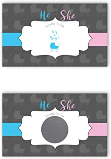 Baby Carriage - It's a Boy! - Gender Reveal Scratch Off Cards - 25 Pack - My Scratch Offs