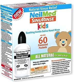 Neilmed's Sinus Rinse, Pediatric, Complete Saline Nasal Rinse Kit 60 Premixed Packets