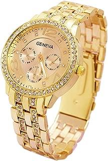 Geneva Platinum Analogue Gold Dial Women's Watch -GNV01