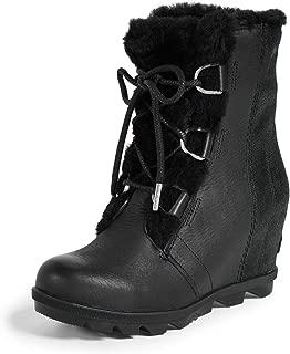 Sorel Women's Joan of Arctic Wedge II Shearling Boots, Black, 9.5 M US