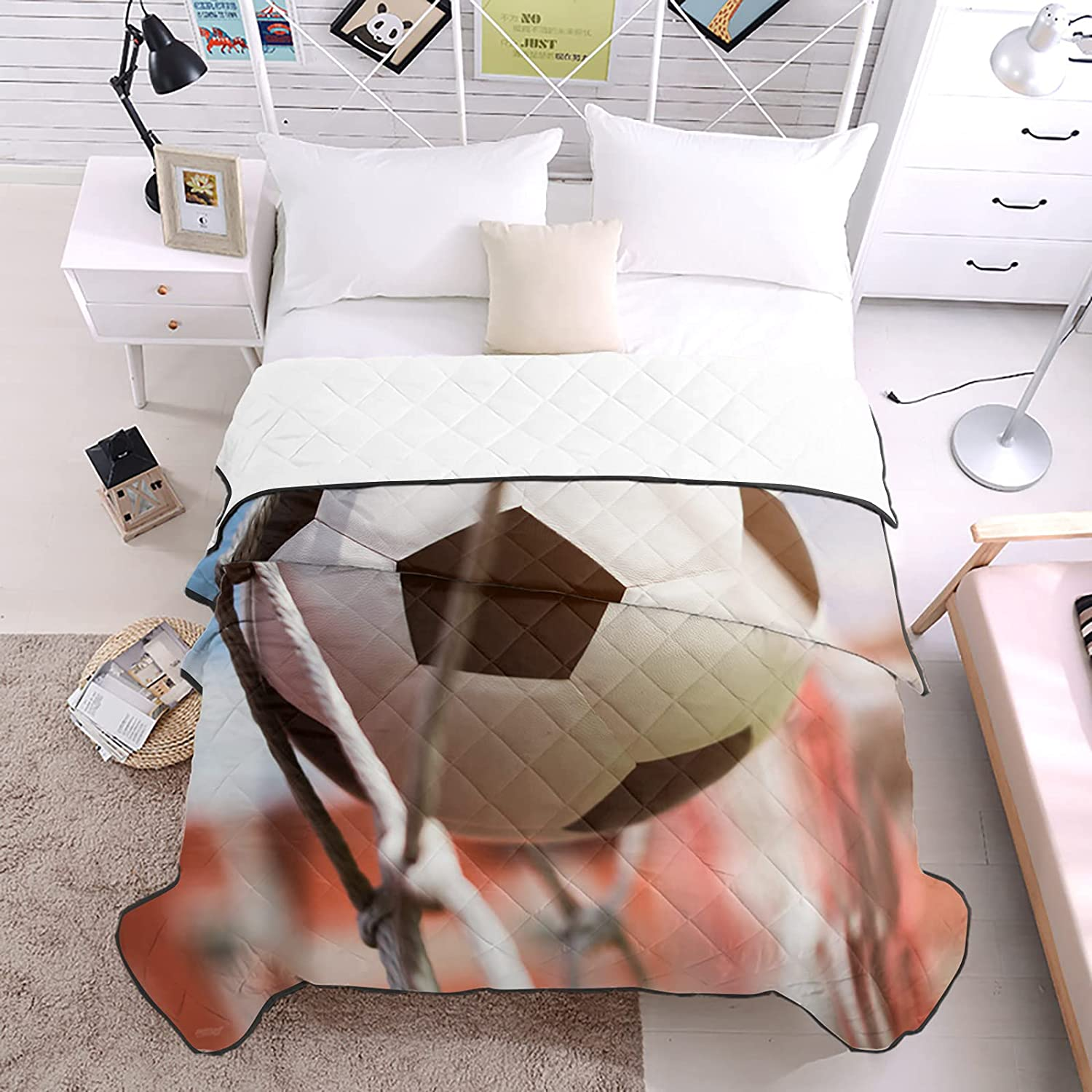 DecorLovee Today's only Bedding All stores are sold Duvets Football Shots Comfor Down Season