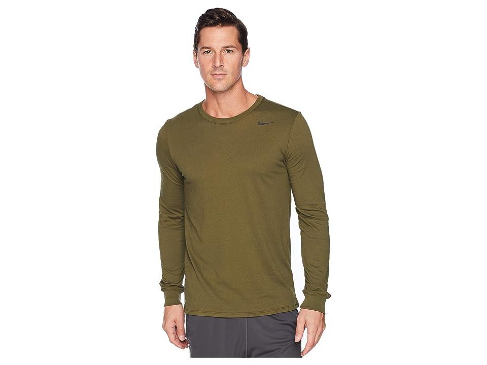 Nike Dry Training Long Sleeve T-Shirt (Olive Canvas) Men