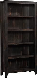 "Sauder 422595 Dakota Pass 5-Shelf Bookcase, L: 33.78"" x W: 12.52"" x H: 71.10"", Char Pine finish"
