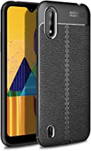 For Samsung Galaxy M01 Litchi Texture TPU Shockproof Case Waterproof (Color : Black)