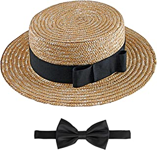 Fun World Love Lucy Ricky Straw Hat and Bow Tie