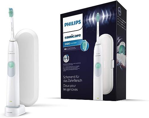 Philips Sonicare HX6221/22 DailyClean 3100 Brosse à dents électrique avec technologie sonique, étui de voyage inclus ...